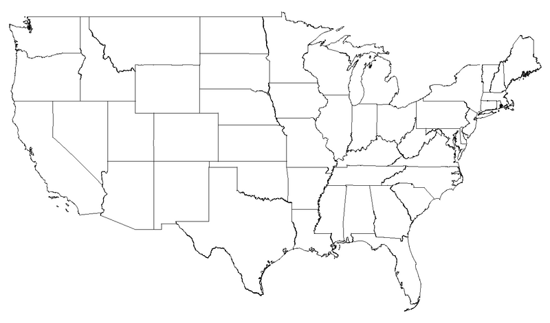 Map Of America Png.Us Map Png